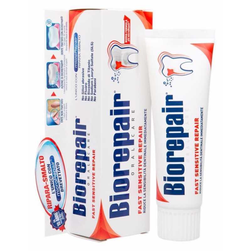 Зубная паста BIOREPAIR FAST SENSITIVE Repair для чувствительных зубов  75ml