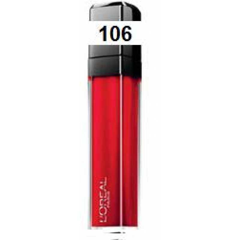 L,OREAL Блеск для губ Инфаибль 106 Безупречный красный
