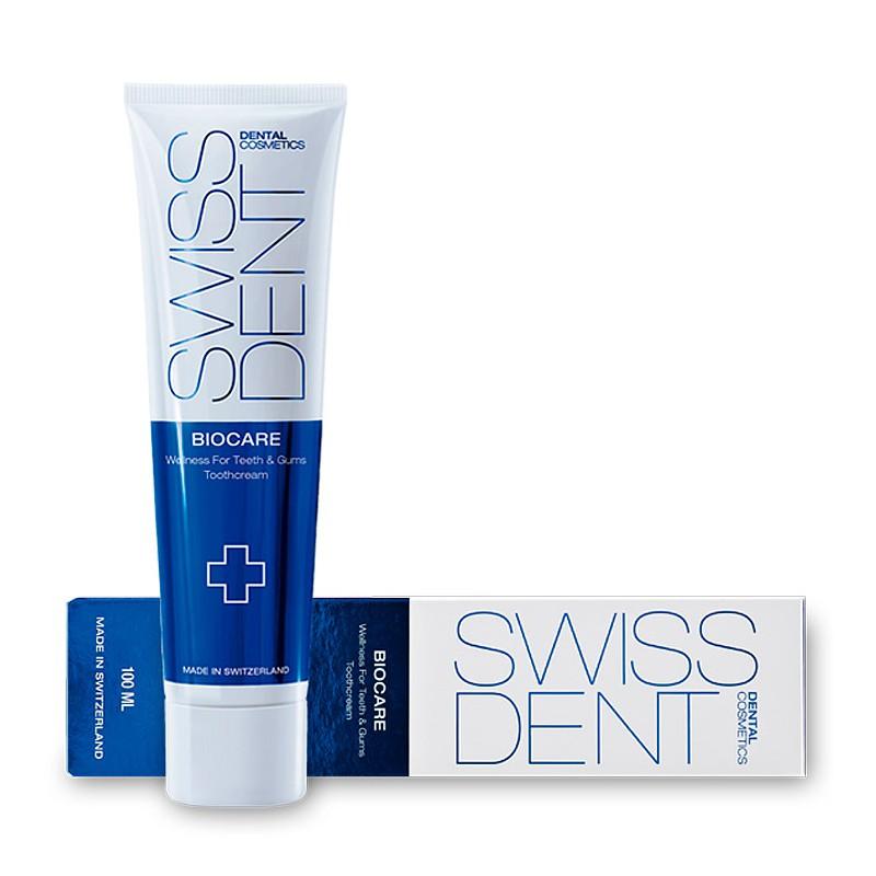 Мягко отбеливающий крем для ухода за гиперчувствительными зубами и дёснами (Свиссдент) SWISSDENT BIOCARE 100 мл RDA 40