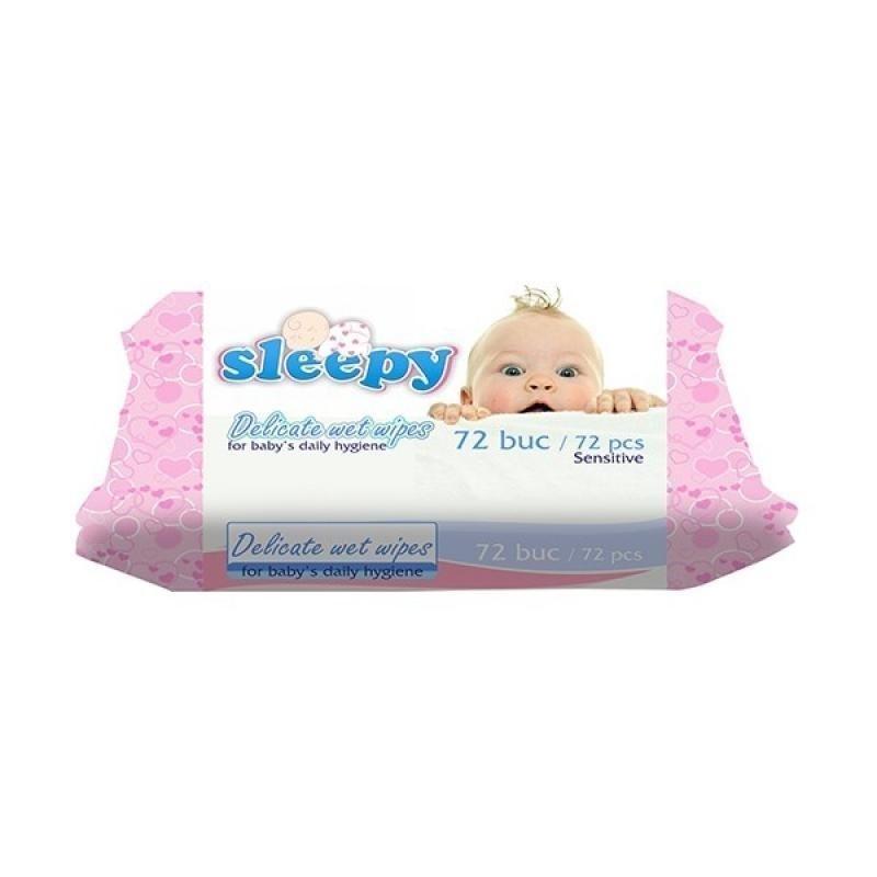 Влажные салфетки Sleepy Sensitive, 72 шт