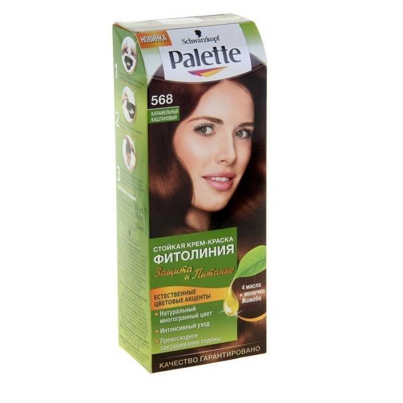 Краска для волос Palette Фитолиния 568 Карамельный каштан, 50 мл