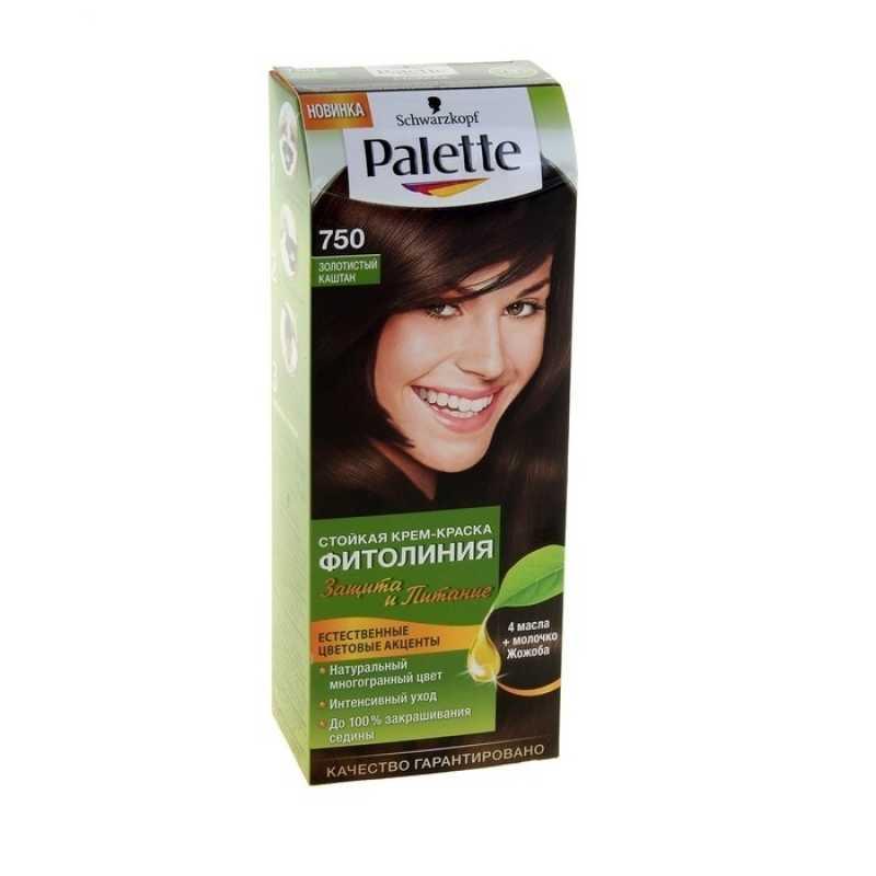 Краска для волос Palette Фитолиния 750 Золотистый каштан, 50 мл