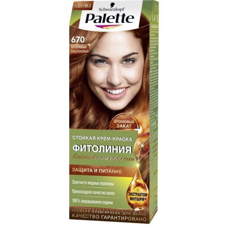 Краска для волос Palette Фитолиния 670 Бронзовый каштановый, 50 мл