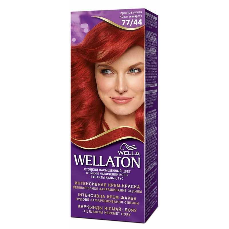 Краска для волос Wellaton 77/44 Красный вулкан