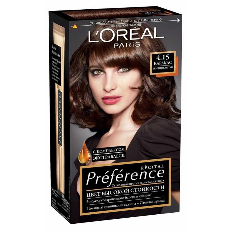Краска для волос LOreal Preference 4.15 Каракас темный каштан