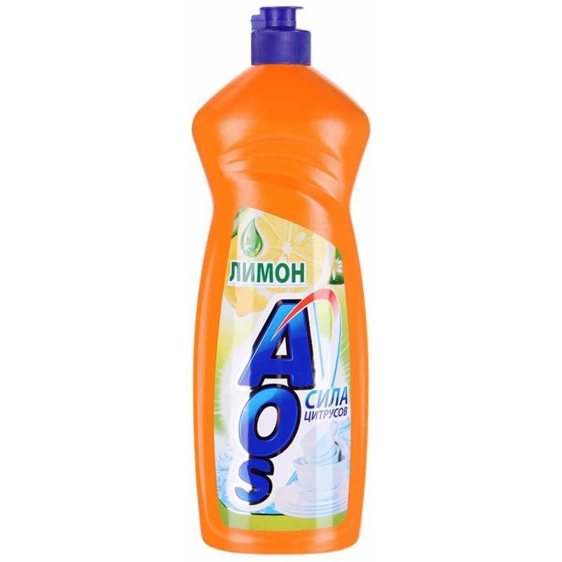Средство для мытья посуды Aos Лимон, 1 л