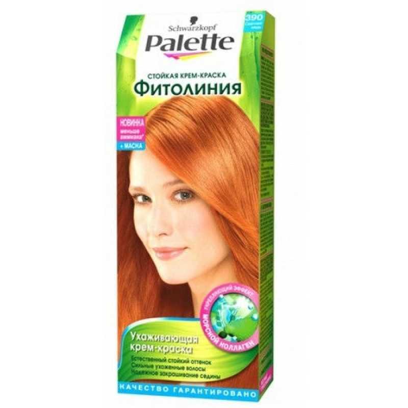 Краска для волос Palette Фитолиния 390 Светлая медь, 50 мл
