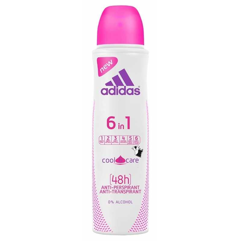 Антиперспирант Adidas 6в1 48H спрей для женщин, 150 мл
