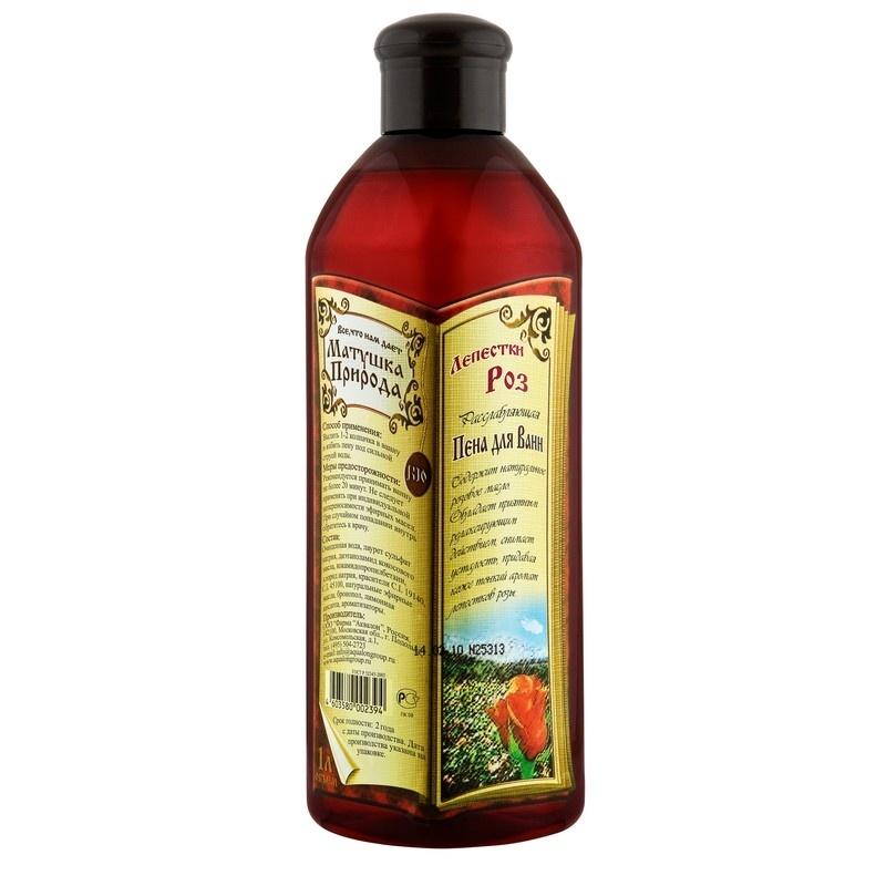 Пена для ванн Матушка Природа Лепестки роз, 1 л