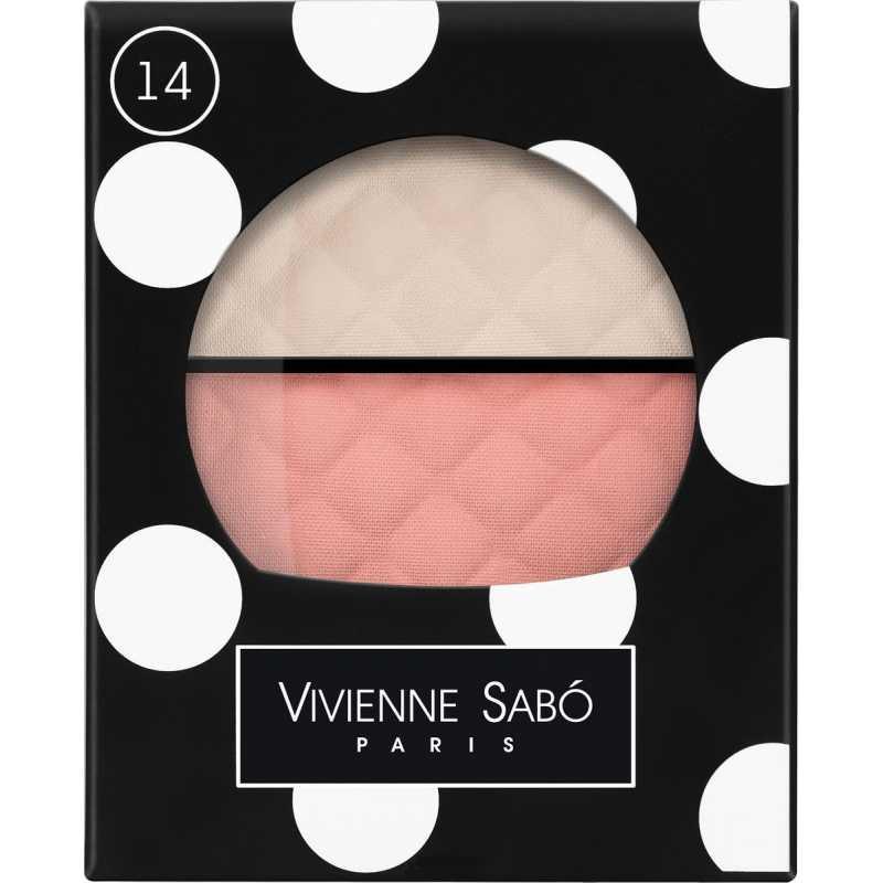 Румяна-хайлайтер для лица Teinte Delicate двойные, тон 14, Vivienne Sabo