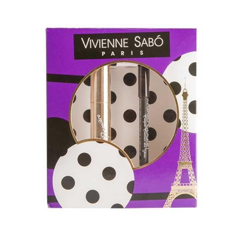 Подарочный набор тушь Cabaret premiere, тон 01 + карандаш для глаз Regard Сoquet, тон 301 Vivienne Sabo