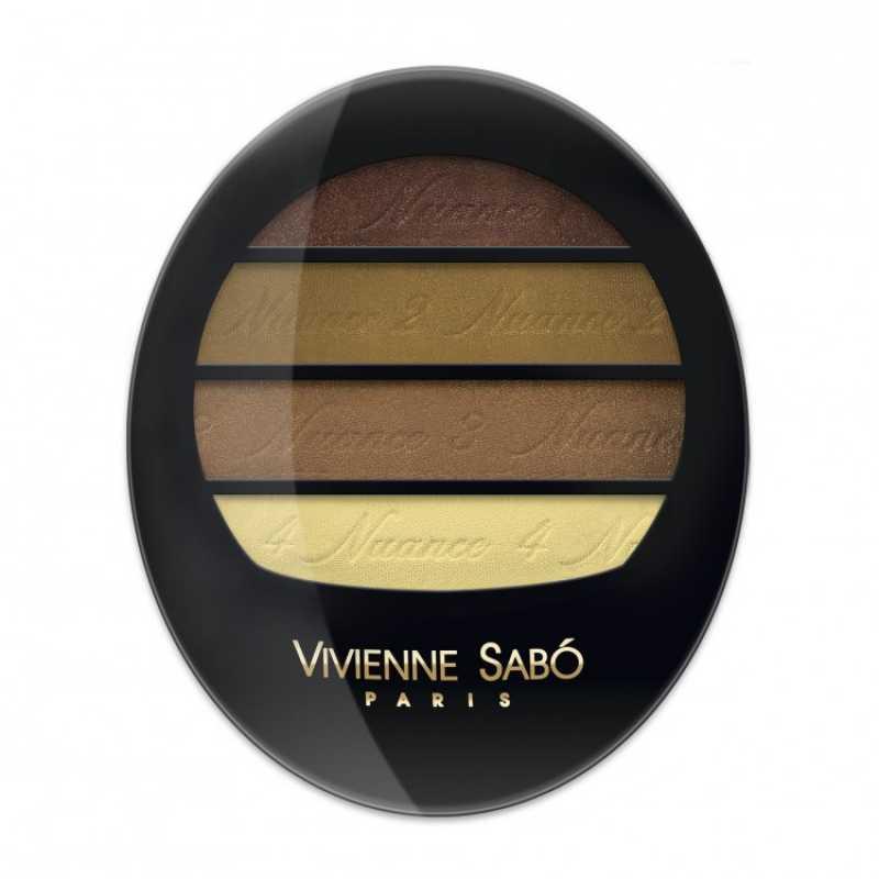 Тени для век Quatre Nuances квартет Vivienne Sabo