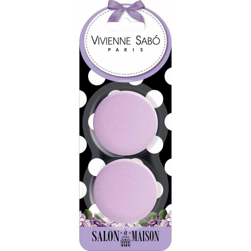 Набор круглых латексных спонжей для макияжа, 2 шт, Vivienne Sabo